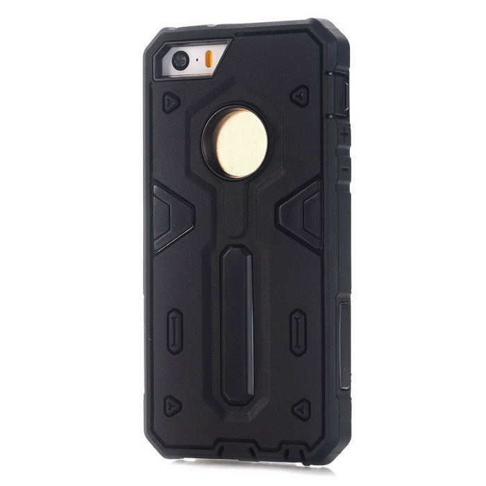 TPU + PC Back Case voor iPhone SE / 5S / 5 - zwart