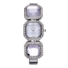WeiQin 391205 Women's Crystal Bracelet Quartz Watch - Silver