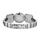 WeiQin 391207 Women's Crystal Bracelet Quartz Watch - Silver + Coffee