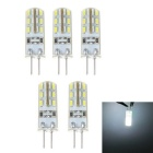G4 1.5W 100lm 24*SMD 3014 LED Cool White LED Corn Bulb (DC12V / 5PCS)