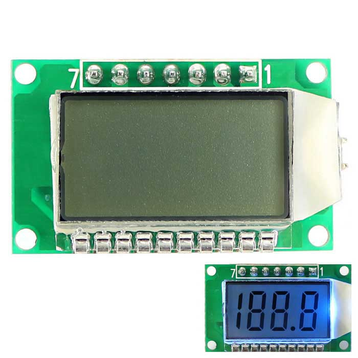 3.5-Digit 7 Segment LCD Display Module w/ Backlit for Arduino - Green