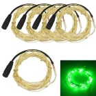 JIAWEN 3W Green Light LED String Light - Silver (5*1m / DC 12V)