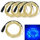 JIAWEN 3W Blue Light LED String Light - Silver (5*1m / DC 12V)
