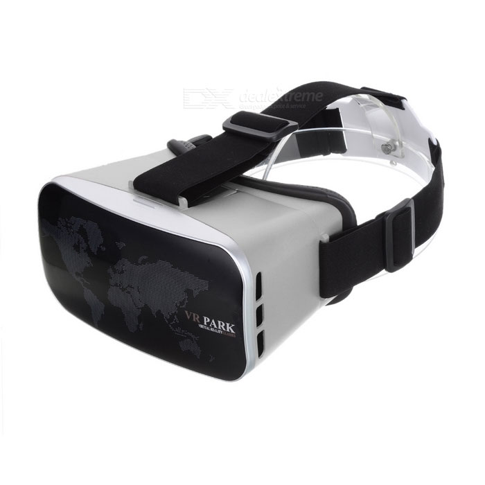 VR PARK V3 Virtual Reality Polarized 3D Video Glasses - Black + Grey