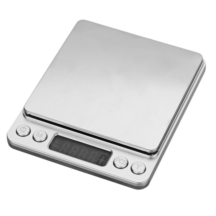 "Mini Accurate 1.7"" Digital Jewelry Weighing Scale - Silver (0.5~2000g)"