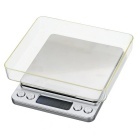 "Mini Accurate 1.7"" Digital Jewelry Weighing Scale - Silver (0.5~3000g)"