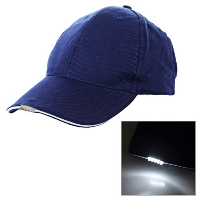 5*LED White Light Flashing Sports Cap - Dark Blue