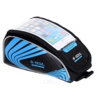 "B-SOUL Touch Screen Bag Tubo de bicicleta Top de 5.5 ""Celular - preto + azul"