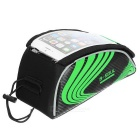 "B-SOUL Touch Screen Bag Tubo de bicicleta Top de 5.5 ""Celular - Preto + Verde"