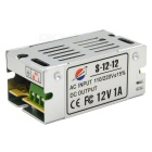 12V / 1A 12W Constant Voltage Bi-wire Switching Power Supply - Silver