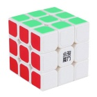YJ YJ830 3 * 3 * 3 56mm Magic IQ Cube - White + Multi-Colored