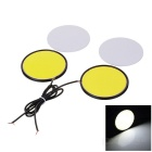 JRLED R80 6.8W 120-COB Cool White Car Daytime Running Lights (2PCS)