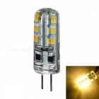 JIAWEN G4 2W Warm White LED Corn Bulb - Transparent (DC 12V / 10PCS)