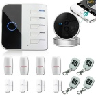 WiFi GSM Alarm System Home Security for IOS / Android -White+Black(US)