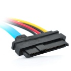 DIEWU 29-Pin Serial SAS SFF-8482 a SATA Cable Adapter - Azul + Negro