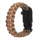 Outdoor Survival Paracord Bracelet - Army Green + Orange