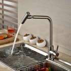 F-1893 304 Stainless Steel 360° Rotatable Kitchen Sink Faucet - Silver