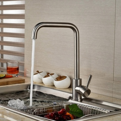 F-1892 304 Stainless Steel 360° Rotatable Kitchen Sink Faucet - Silver