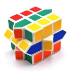 Irregular Octagonal Colorful Magic IQ Cube - White + Blue + Multicolor