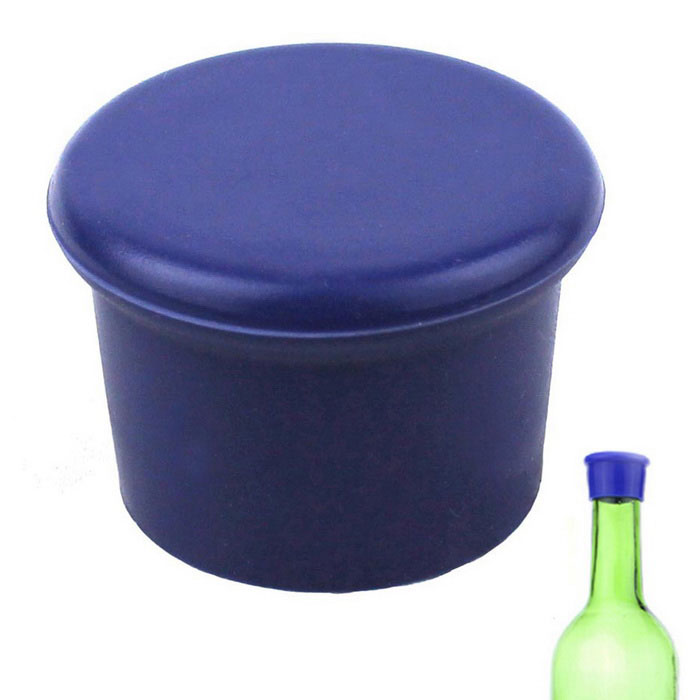 Geen lekkage Fresh Seal Up Silicone Bottle Stopper - Royalblue