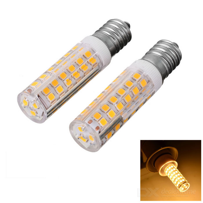 JRLED E14 8W Warm White LED Bulb - White + Yellow (AC 220V / 2PCS)
