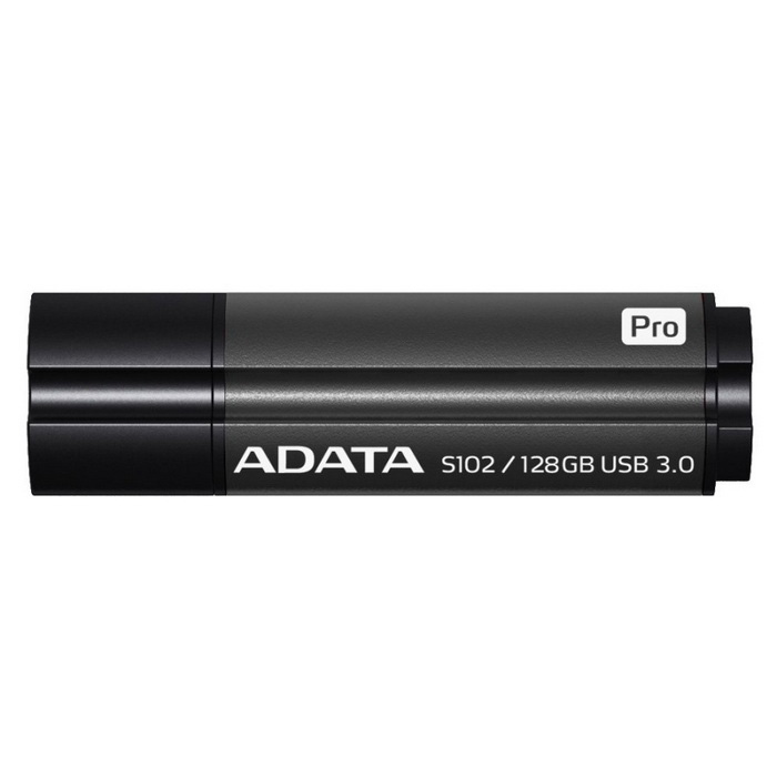 ADATA S102 Pro Advanced 128 GB Flash Drive AS102P-128G-RGY Grå