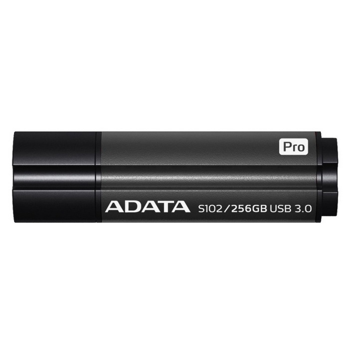 ADATA S102 Pro Advanced 256 Gt Flash-asema AS102P-256G-RGY Harmaa