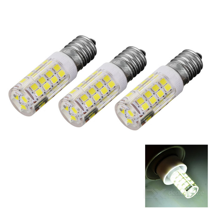 JRLED E14 5W White Light LED Bulb - White + Yellow (AC 220V / 3PCS)E14<br>Color BINWhiteMaterialHigh-conductivity ceramic + PC + LEDForm  ColorWhite + Yellow + Multi-ColoredQuantity3 DX.PCM.Model.AttributeModel.UnitPower5WRated VoltageAC 220 DX.PCM.Model.AttributeModel.UnitConnector TypeE14Chip Type2835 SMDEmitter TypeOthers,2835 SMDTotal Emitters51Theoretical Lumens600 DX.PCM.Model.AttributeModel.UnitActual Lumens300~600 DX.PCM.Model.AttributeModel.UnitColor Temperature12000K,Others,6000~6450KDimmableNoBeam Angle360 DX.PCM.Model.AttributeModel.UnitPacking List3 * Bulbs<br>