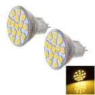 JRLED MR11 1.8W Warm White Light LED Spotlight - White + Yellow (2PCS)