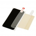 Protective PU Leather Sticker with Screen Protector + Cleaning Cloth for iPhone 4 - Cubic