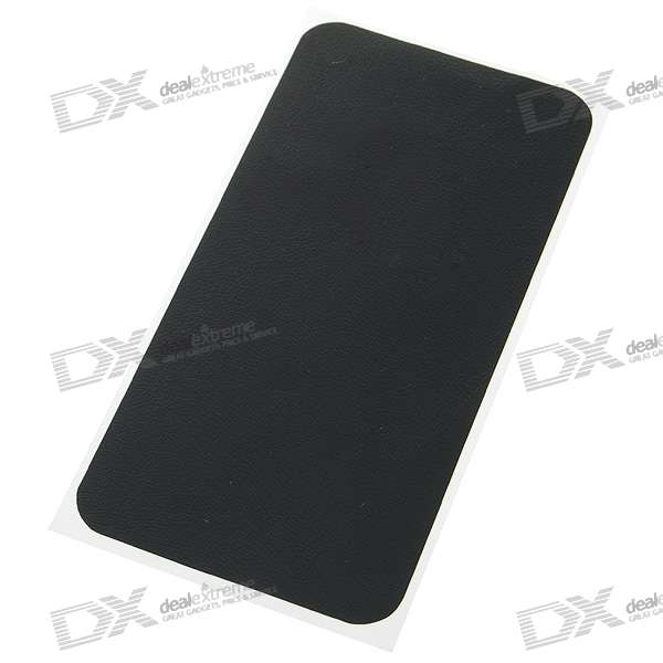 Protective PU Leather Sticker with Screen Protector + Cleaning Cloth for iPhone 4 - Stripe
