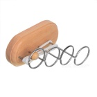 Untie Tape Door Vier Ringen Game Educational Toy-Khaki + White