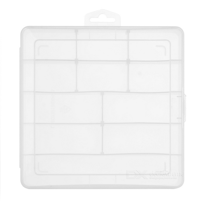 1209 Assembled Storage Box Case w/ 11 Compartments - Transparent