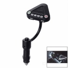 Car Bluetooth Hands-free FM Transmitter Phone Charger - Black