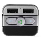 Dual USB Car Bluetooth V2.1 Power Charger Transmetteur MP3 - Noir