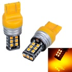 T20 16W 15*2835 SMD LED 450lm Yellow Light Brake Lights (2PCS/12-15V)