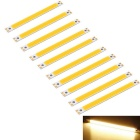 Youoklight DIY 1.2W COB LED barra blanca caliente 3000K 96lm (10PCS)