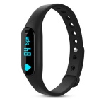 "Hengjiaan 0.69"" OLED Bluetooth Bracelet Heart Rate Monitor - Black"
