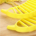 ZIQIAO Banana Slicer Cutter Chopper Fruit Salad Peeler - Yellow