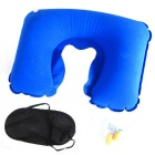 Travel Office Set Eye-shade Patch + Ear Plug + Inflatable U Shaped Pillow Neck Air Cushion