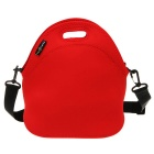 Hugmania I00236 Stylish Neoprene Lunch Tote w/ Shoulder Strap - Red