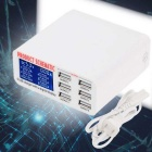 5V 6A Output 3.5A 6-ports USB Fast Charger HUB Adapter - White