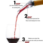 Red Wine Aerating Pourer Spout Decanter - Transparent