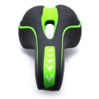 Hollow-out Bike Bicycle Seat Saddle Cushion  - Black + Yellowish Green