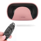 Baofeng Mojing Virtual Reality VR 3D Glasses + BT Controller - Pink