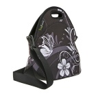 Hugmania I00236-P Stylish Lunch Tote w/ Shoulder Strap - Black + White