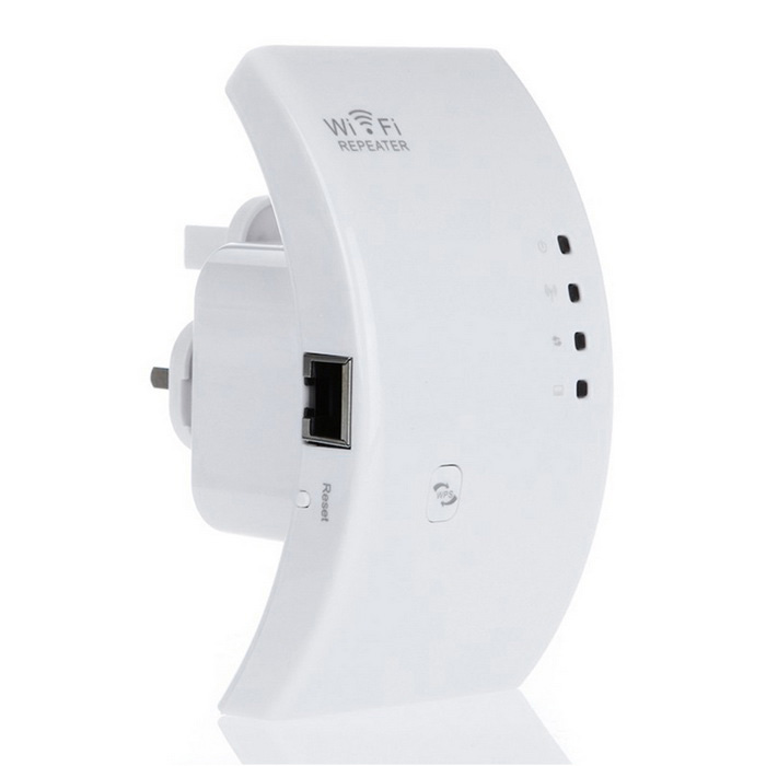 Amplificador de rango de enrutador de red Wireless-N WiFi Repeater 802.11N - Blanco