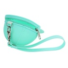 Stylish Peaked Cap Design Silicone Mini Coins Purse - Mint Green