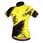 WOSAWE Unisex Ciclismo curto Jersey Top + Pants Suit - Amarelo (L)