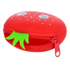 Élégant Mignon Coins Purse Mini Zippered silicone - Rouge + Vert
